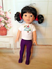 """PURPLE tights for 14"""" American Girl Wellie Wishers Doll"""