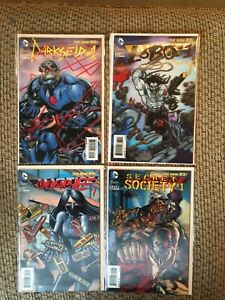 JUSTICE LEAGUE #23.1,23.2,23.3,23.4 2013 LOBO 3-D COVER NEW 52 Comic Lot Of 4