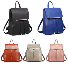 Ladies Girls Fashion PU Leather Shoulder School Travel Bag Backpack