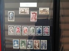 France complete year set 1950 MNH 15 stamps