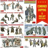 GERMANY SOLDIERS MINIART 1/35 WW II MILITARY MINIATURES PLASTIC MODEL BUILD KIT
