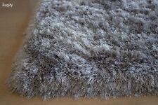 Platinum Silver Light Grey Shimmer Shag 5'x7' Area Rug Carpet Rug Solid New