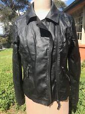 Supre Brit Biker Jacket Leather Look Size 12