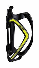 Flex bottle cage light weight composite tight fit gloss black yellow bbc -36