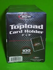 100 PACK-TOPLOAD CARD HOLDERS FOR SPORTS/ TRADING CARDS,12M 3 X 4 RIGID PLASTIC