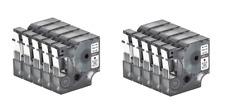 10 x Compatible Dymo D1 12mm x 7m black on white Label tapes (45013) VAT inc