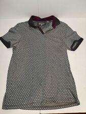 Ted Baker Mens Shirt Size 4 Medium Polo Grey Purple M