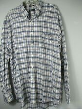Nautica Men's Size 2XL XXL 100% Cotton Long Sleeve Button-Front Shirt