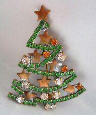 Gablonz//Böhmen - Strass Brosche Weihnachtsbaum Weihnachten W 155