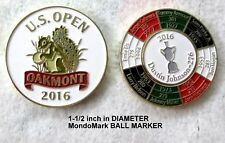 2016 US OPEN, Oakmont, MondoMark with DUSTIN JOHNSON BALL MARKER