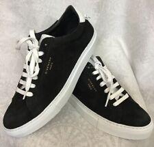 ae664f8e061a8 Givenchy Tenis Zapato Negro De Cuero De Gamuza Terminación Blanca Blanco  Encaje Talla 39