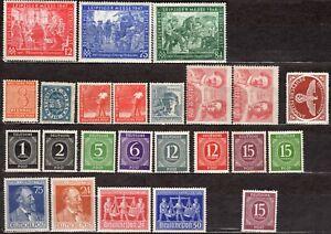 Lot 24 timbres neufs DEUTSCHE POST + LEIPZIGER MESSE 1946 1948