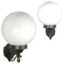 Deluxe Globe Outdoor Black Wall Lights Lamp Lighting Fixture Lantern
