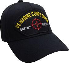 "US Marine Corps Sniper Hat ""One Shot One Kill"" Ball Cap USMC Sniper"