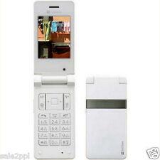 "Samsung SoftBank 821SC White 2MP BT 2.4"" OLED Unlocked 3G Only Flip Cell Phone"