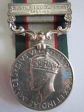 British India General Serv. Medal - N.W.F.1937-39 to Rfn Bader Din 2-6 Raj. Rif.