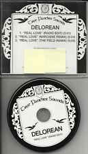 DELOREAN Real love w/ EDIT & NARCISSE & FIELD REMIX  PROMO DJ CD Single 2010