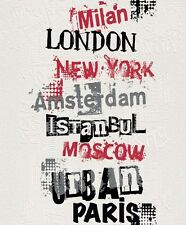 Rasch Papel Pintado Vellón blanco negro rojo París London Moscú New York 791907