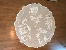 Lace Christmas Tablecloth Nativity Round 48�