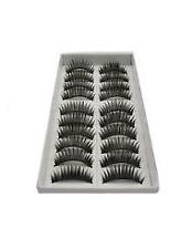 1028 - 10 Paare schwarz lange voluminöse falsche Wimpern Wimpern