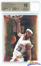 2003 UD Freshman #44 Lebron James RC+Game Used HS Jersey BGS 10 PRISTINE 1/1