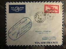 1938 Hanoi Vietnam First Flight Cover to Ft Bayard via Air France 150 Flown FFC