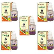 Drishti 5x 10ml Divya Herbal Patanjali Eye Drop Eye Care 5 Pack of 10ml Ayurveda