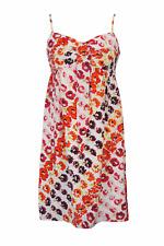 Coast Kleid Damen 100% Seide Seidenkleid Sommerkleid Gr 38 (M) Mehrfarbig