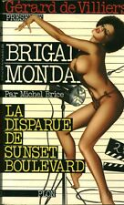 Livre de poche policier la disparue de sunset boulevard Gérard De Villiers book