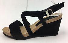 Women's CORDANI ankle strap wedge sandals Size EUR 36,black suede 2277.1
