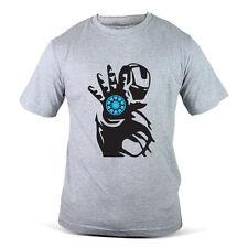 076-GY Ironman Iron Man Tony Stark Arc Light Superhero Grey Mens T-Shirt