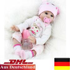 55cm Reborn Baby Puppe Lebensecht Handgefertigt Weich Silikon-Vinyl Mädchen 2021