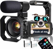 Video Camera, TLPUHU 4K Camcorder WiFi Ultra HD 48MP YouTube Camera for Vlogging