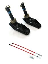(2) New Square SNOW PLOW SHOE SKID FOOT ASSEMBLIES w/ BLADE MARKERS Snowblade
