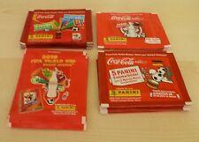 Panini World Cup 2010 + Euro 2012 Coca Cola Promo Sticker Packs x 4 different
