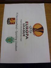 18/08/2001 England/FA Correspondence: FC Nordsjaelland v Sporting Lisbon [UEFA E