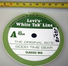 LEVI'S WHITE TAB LINE CLASSIC MIX 45RPM 1997 STICKER ADESIVO