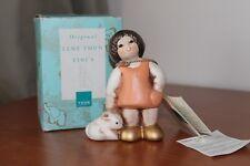 Thun, Tini's, bimba con coniglio. Rosa, altezza 10 cm.