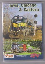 Iowa, Chicago & Eastern (DVD) Railway DVD ~ SPV DVD ~ US RailRoads ~ NTSC