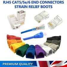 EZ Pass Through RJ45 CAT5 5e CAT 6 Crimp End Plug Connectors Network Cable Boots