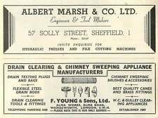 1953 Albert Marsh Sheffield Presses F Young Wandsworth Drains Ad