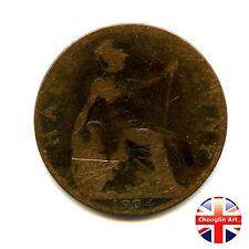 A 1904 British Bronze EDWARD VII HALFPENNY Coin