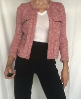 Isabel Marant Etoile Pink/Grey Tweed Jacket, Size 34 (French), 0-2 (US)