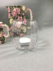 Clear Ripple Glass Tea Light Holders x 12 Job Lot / Wedding / Party