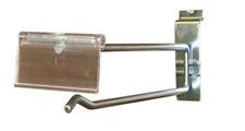 "Slatwall Flip Scanner Hooks Slatgrid Label Holder Display 8"" Zinc Lot of 100 New"