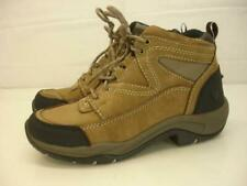 Women's 7.5 B M Ariat Terrain Endurance Boots Brown Leather Lace-Up Western Work