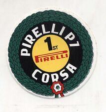 Adesivo PIRELLI CORSA 1st Campioni NUOVO sticker Formula 1 Rally Pneumatici