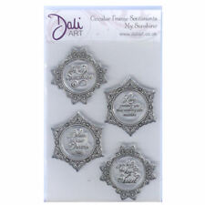 New listing Dali Art A6 Clear Rubber Stamp - Circular Frame Sentiments