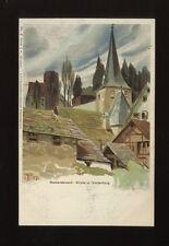Germany NECKARSTEINACH Kirche u. Vorderburg artist Biese drawn u/b PPC
