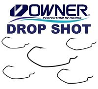 OWNER Drop Shot Hooks  Down Shot Offset Wide Gap Perch Fishing Soft Lures Pike